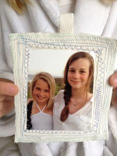 My Mother's Day Gift: A hand-sewn picture frame from my 11 year old daughter who was up in the wee hours of the morning, sewing away. Homemade Mothers Day Gifts, Great Mothers Day Gifts, Mother Day Gifts, Mum Birthday, Birthday Ideas, Picture Frames, Picture Ideas, Photo Ideas, Gifted Kids
