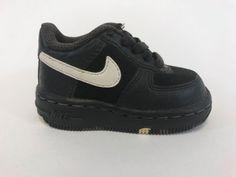 Toddler NIKE Air Force 1 Mid (TD) Shoe's Sneakers Kicks W/ Box Size 3C Black B20 #Nike #Athletic