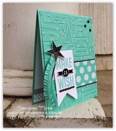 Alphabet Embossing Folder; Perfect Pennants Stamp Set; Coastal Cabana Core'dinations Cardstock; Fresh Prints DSP