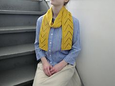 Ravelry: Sunglow Scarf pattern by Emily Johannes