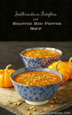 Southwestern Pumpkin and Roasted Red Pepper Soup