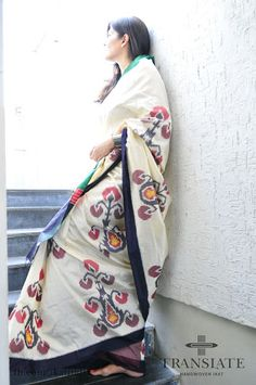 How could one not love this? Silk. Ikat. Saree. Three of our favourite things!