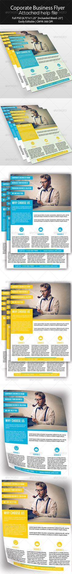 Corporate Business Flyer by SelenaParker.deviantart.com on @deviantART