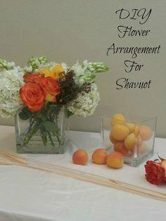 Easy flower arrangement for Shavuot