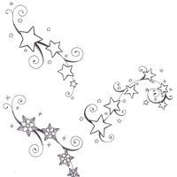 lilies and stars flower tattoo - Google Search
