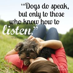 What does your #dog say to you? #quote #truth