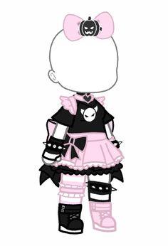 Arte Do Kawaii, Kawaii Goth, Manga Clothes, Drawing Anime Clothes, Cartoon Outfits, Anime Outfits, Cute Anime Character, Character Outfits, Edgy Outfits