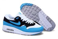 Nike Air Max 1 Herren Schuhe Weiß/Blau/Schwarz