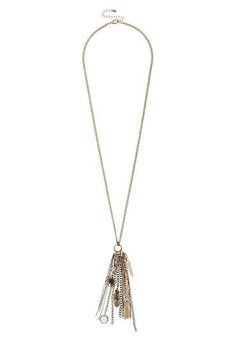 necklace with chain and charm tassel - #maurices