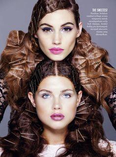 CURLS for Marie Claire ID.  Photographer: Dorit Thies, Makeup: Dana Delaney…