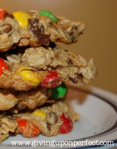 Monster Cookies {flour-less dessert} for GF just make sure the oats are GF