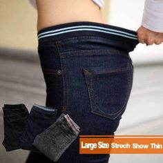 Jeans Woman plus Size Casual high Waist women jeans skinny Women Denim Pants Black Blue Brand trousers for women 4XL 5XL 6XL