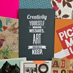 Creativity & Art  Typography Letterpress Design by brettadamwilson, $5.00