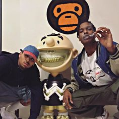 Chris and Asap Aesthetic Art, Aesthetic Pictures, Lord Pretty Flacko, Breezy Chris Brown, A$ap Rocky, Celebs, Celebrities, Photo Dump, Mickey Mouse