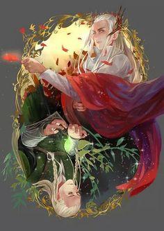 The Sindar of Mirkwood - Thranduil and Legolas