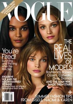 Vogue US May 2009 Liya Kebede, Anna Maria Jagodzinska, Natalia Vodianova