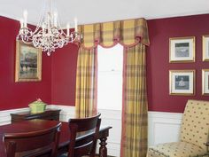 colorful accents compliment traditional dining