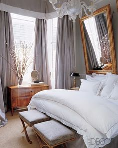 "Love these drapes. All the way up to the ceiling, the valance should end just at the lip of the ""real window"" making the windows appear much larger"