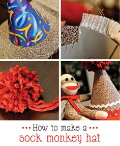 how to make a sock monkey party hat