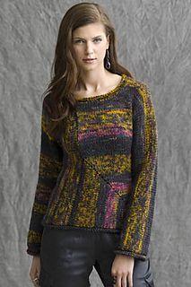 Sunrise Mitered Pullover by Irina P. in Super Bulky | $6 from Tahki SC
