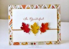 {So Grateful} Lawn Fawn Stitched Leaves Die & WPlus 9 Designs Fanciful Feathers