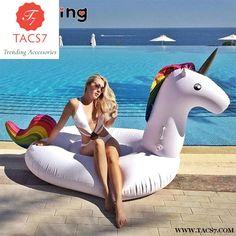MEIDDING 1pcs Big Unicorn Float Swimming Cartoon Animal Inflatable Boat Adult Tube Raft Mattresses Ring Summer Water Toy