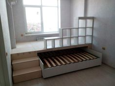 double pull-out bed podium in one .club - We choose interesting double pull-out bed podium in one … for you. Custom Made Furniture, Furniture Making, Diy Furniture, Kitchen Furniture, Office Furniture, Girls Bedroom, Bedroom Decor, Bedroom Office, Pull Out Bed