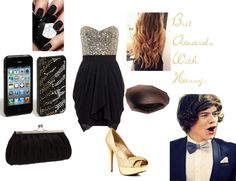 """Brit Awards With Harry."" by onedirectionerrs ❤ liked on Polyvore"