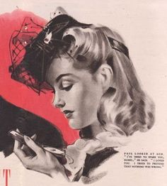 An absolutely lovely 1940s hairstyle to wear with vintage hats ...