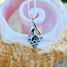 Baby conch shell pendant