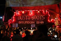 We wish this bar were open all year 'round - Dusty Boots Bourbon Bar @ The Barrio!