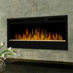 """Dimplex 50"""" Linear Electric Fireplace - BLF50  http://www.electricfireplacesdirect.com/products-accessories/dimplex-wall-mount-electric-fireplaces/Dimplex-50-Linear-Electric-Fireplace-BLF50"""