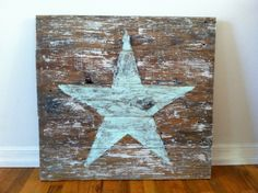 Star painted on recycled fence boards. $75.00, via Etsy.