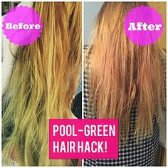 HAIR HACK FOR POOL-GREEN HAIR! (rxbxcca)