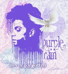 """Purple Rain"" art poster print by Danny Hahlbohm depicting Prince Rogers Nelson. Tribute"