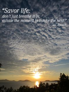 Don't just breathe it in...