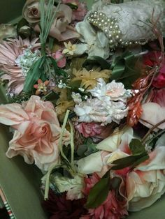 Vintage trims and flowers....
