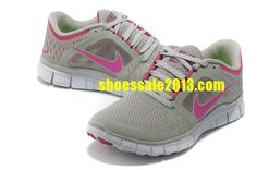 dfaaaaff137 Half Off Discount Nike Free Run 3 Womens Size 9 Neutral Grey Think Pink Nike  Free Run 2014 Running Shoes