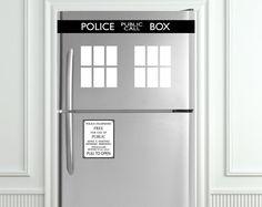 TARDIS/Police Box Refrigerators Kit - Fits all makes/models. $24.00, via Etsy.