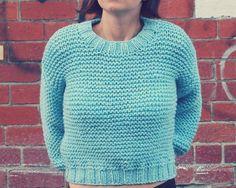 Easy Super Chunky Midriff Jumper Knitting pattern by Mrs Gouthro Knits | Knitting Patterns | LoveKnitting