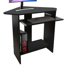Corner Computer Desk Home Student Dorm Small Writing Workstation Laptop Table…