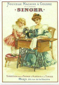 Treadle Sewing Machines, Vintage Sewing Machines, Printable Crafts, Printable Designs, Vintage Prints, Vintage Posters, Couture Vintage, Coin Couture, Images Vintage