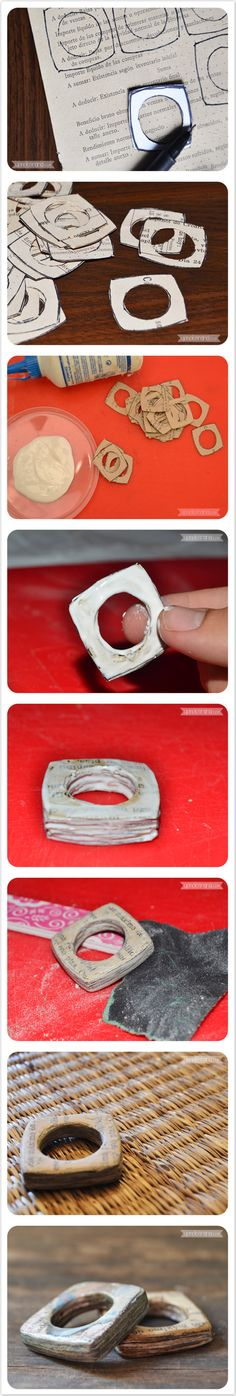 DIY Paper Ring Components