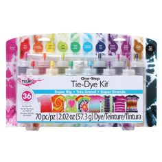 I Love To Create-Tulip One Step Tie Dye Kit: Super Big. The Tulip One-Step Color Tie-Dye Kit includes all of the tie-dye supplies you need to make your tie-dye activities pop with over-the-top Tye Dye, Fête Tie Dye, Tulip Tie Dye, Tie Dye Party, Tie Dye Kit, How To Tie Dye, How To Dye Fabric, Tie Dye Inverse, Reverse Tie Dye