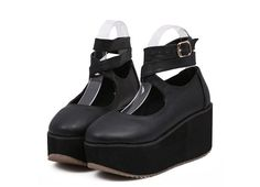 2016 slim/good looking platform shoes/sling back pumps with round toe/wedges/buckle for young ladies in new Japanese fashion-in Women's Pumps from Shoes on Aliexpress.com | Alibaba Group