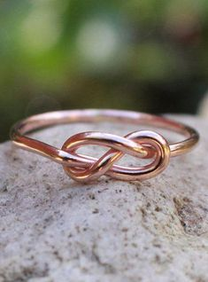 Infinity Knot Ring 14K Rose Gold Filled