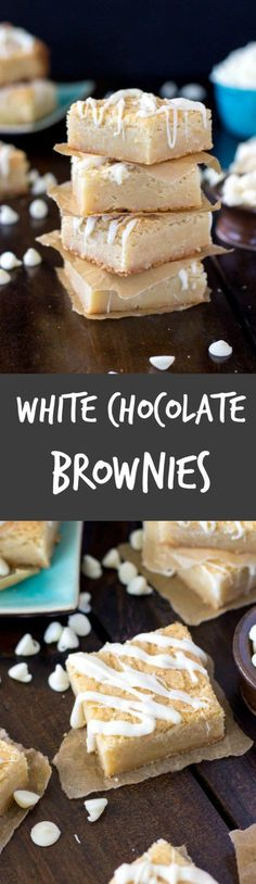White Chocolate Brownies! Or are they Blondies  from http://SugarSpunRun.com