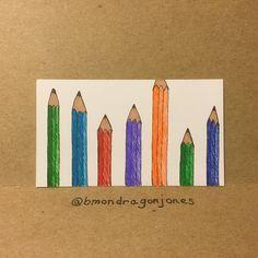 Pencils. #illustration #pencil #businesscardart #tinycanvas #markers