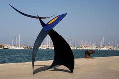 Steel Abstract Garden #sculpture by #sculptor Teo San Jos titled: 'Velero de Fuego No 006' #art