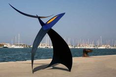#Steel #sculpture by #sculptor Teo San Jose titled: 'Velero de Fuego No 006 (Tall abstract Outdoors stainless Steel statues)'. #TeoSanJose